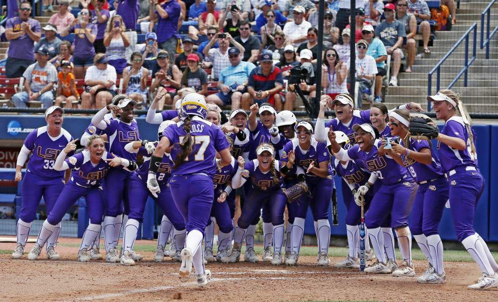 LSU is about to hit softball's biggest stage ... without Juanita the Rallyfish _lowres