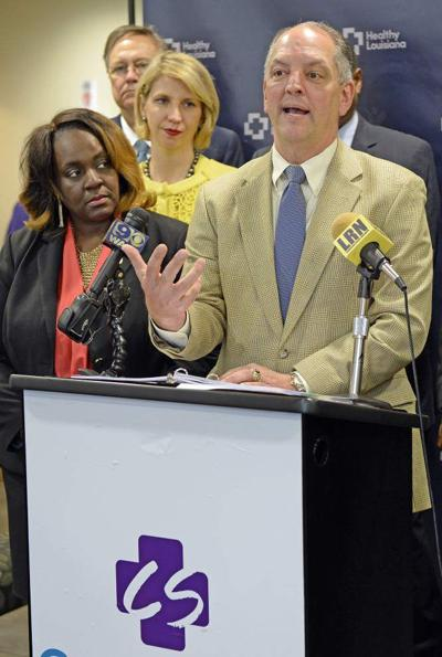 At Baton Rouge events, John Bel Edwards attempts to build support for budget changes, Medicaid expansion _lowres