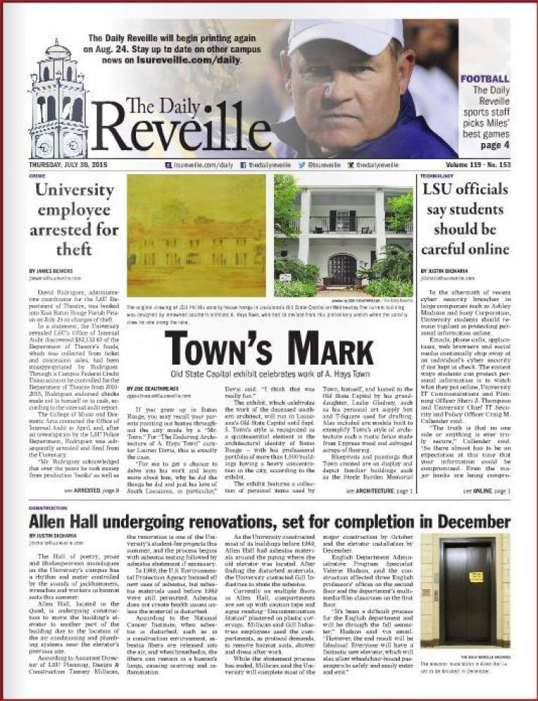 Our Views: Avoid downhill path to extinction - keep LSU's Reveille a daily paper _lowres