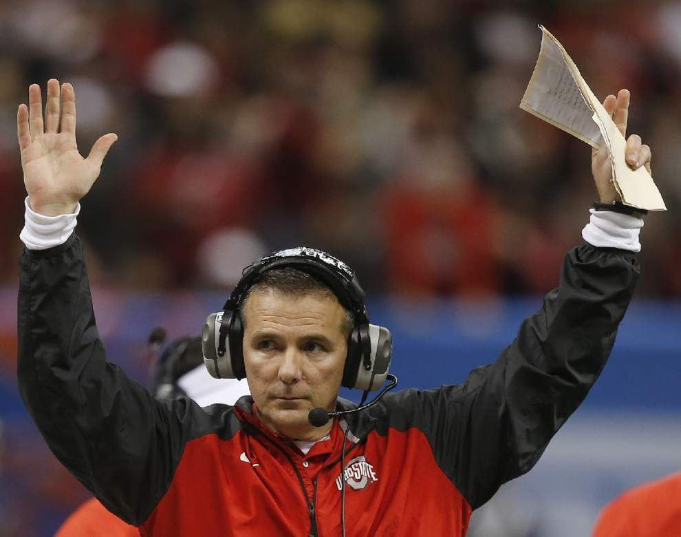 Video: Ohio State coach Urban Meyer says he would play 10 more games with his players _lowres