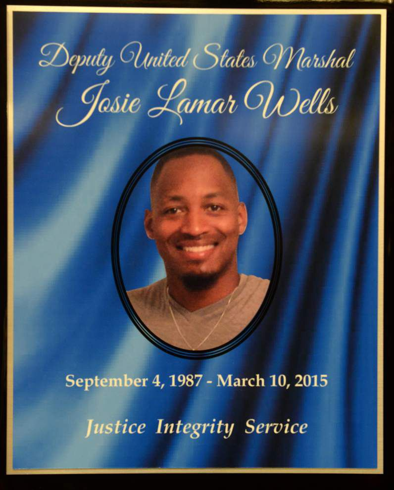 Slain Deputy U.S. Marshal Josie Wells remembered in ceremony at federal courthouse in Baton Rouge _lowres
