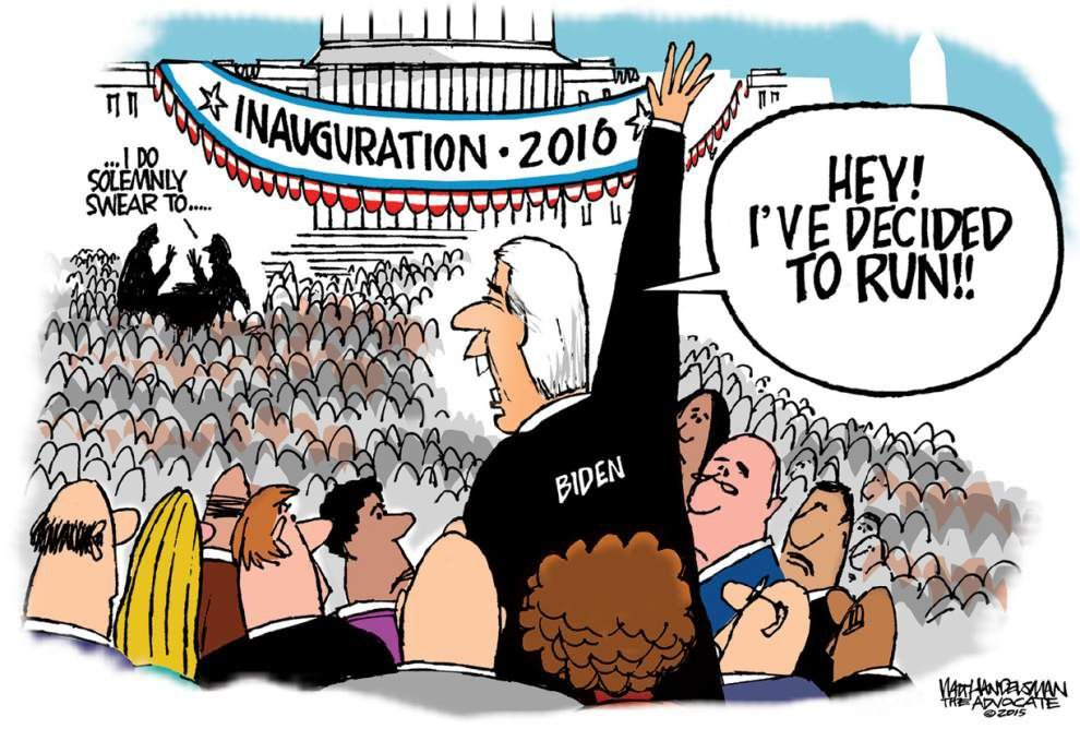 Walt Handelsman: Is Joe Biden jumping in? _lowres