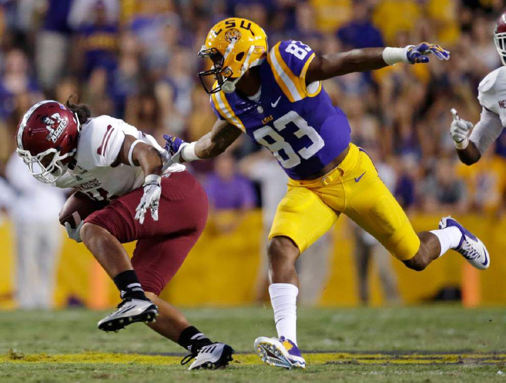 Video: LSU receiver Travin Dural says it was a normal day after announcement of Brandon Harris starting at quarterback _lowres
