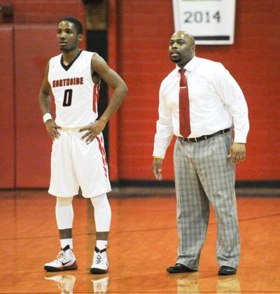 Northside basketball coach Ross Rix gets an assist from his father, James Rix _lowres