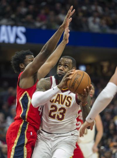 68912c723b5 Pelicans Cavaliers Basketball. Buy Now. Cleveland Cavaliers  LeBron James  ...