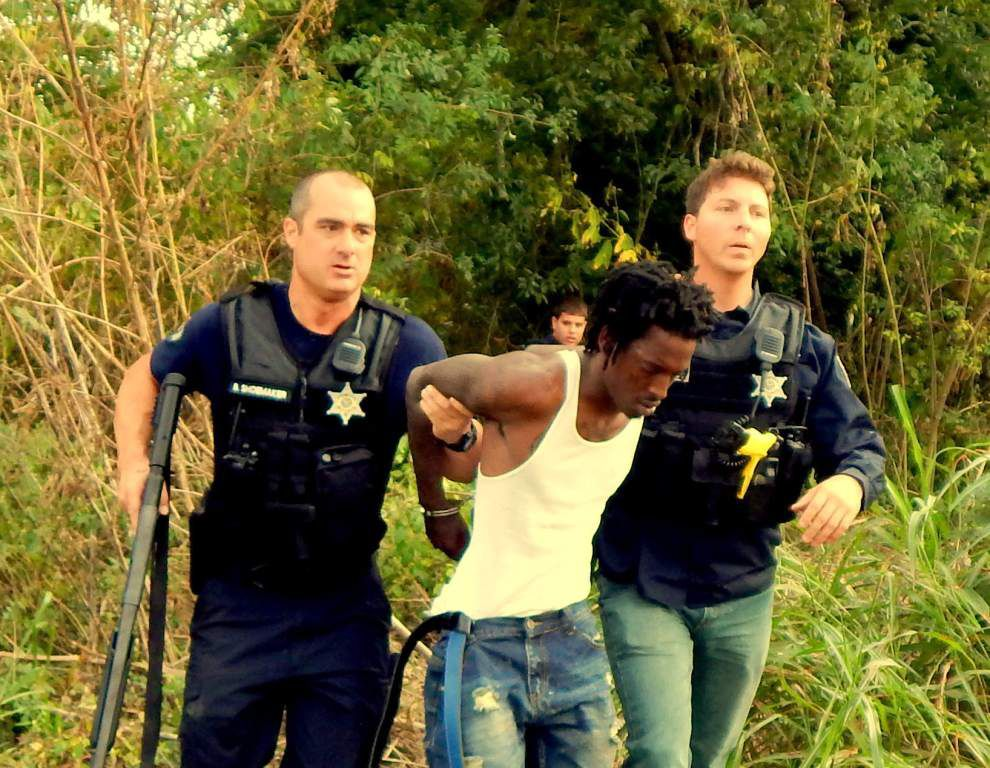 Violet robbery suspects found in woods, and other area police news _lowres