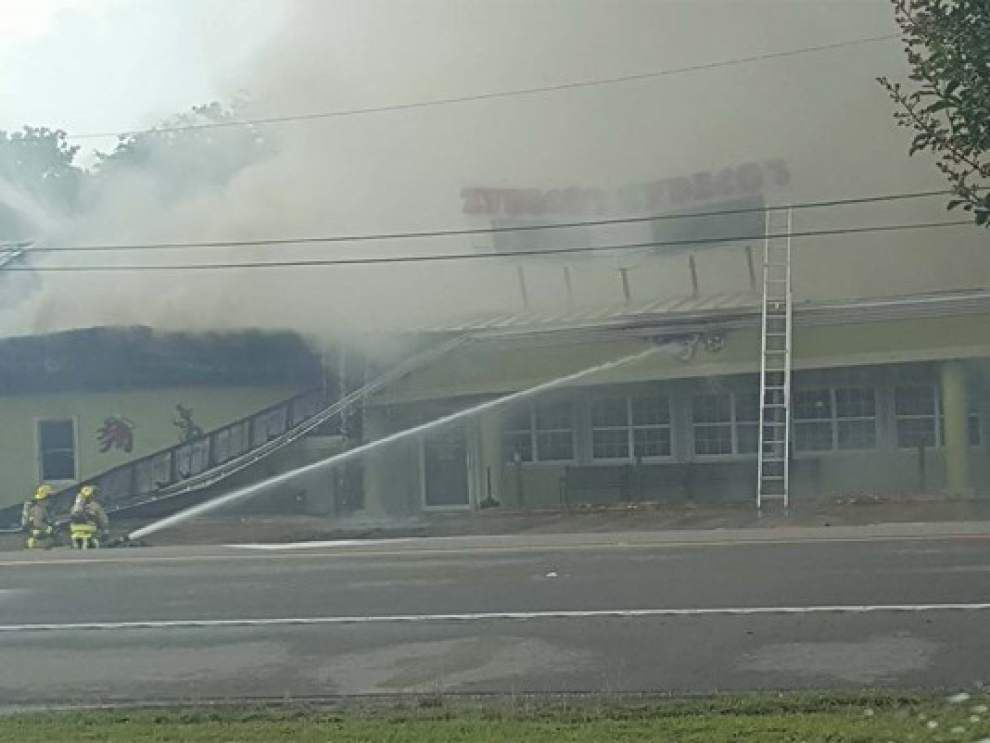 Report: Popular restaurant Zydeco catches fire in St. Charles Parish (w/ aerial video) _lowres