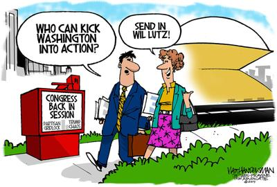 Walt Handelsman: Who can kick Washington into action?