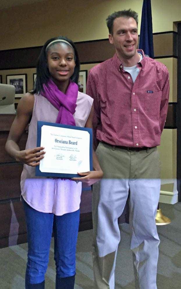 Zachary schools honor Junior Olympians _lowres