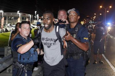Prominent Black Lives Matter activist DeRay Mckesson arrested at Alton Sterling protest in Baton Rouge _lowres