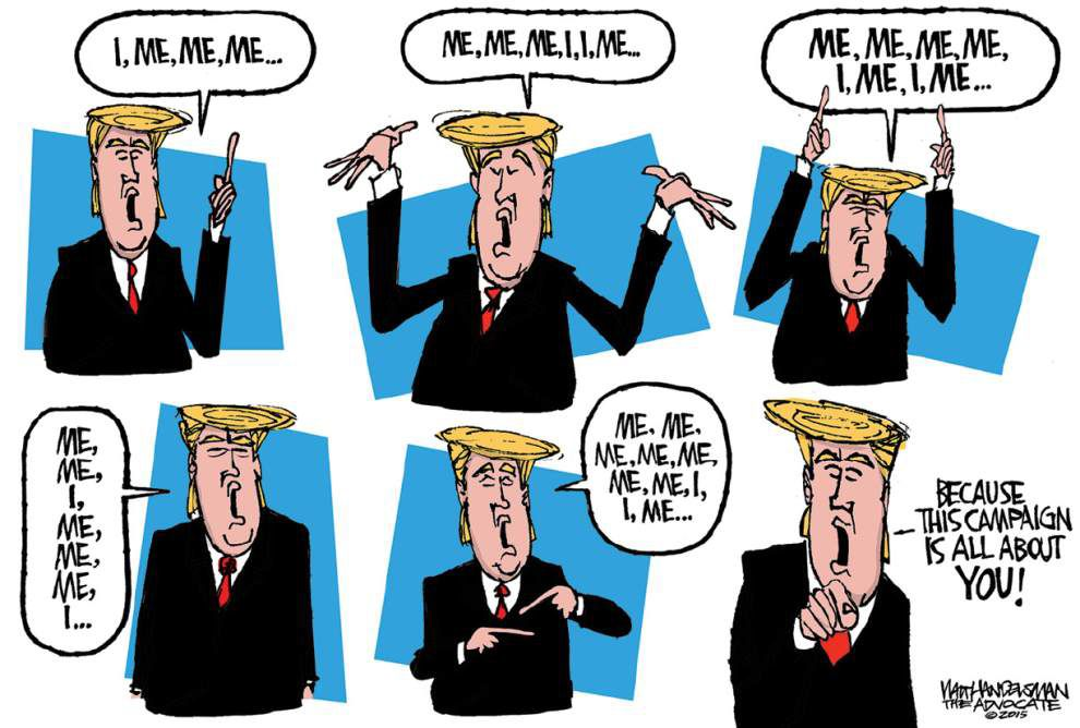 Walt Handelsman: Translating 'The Donald' into English _lowres