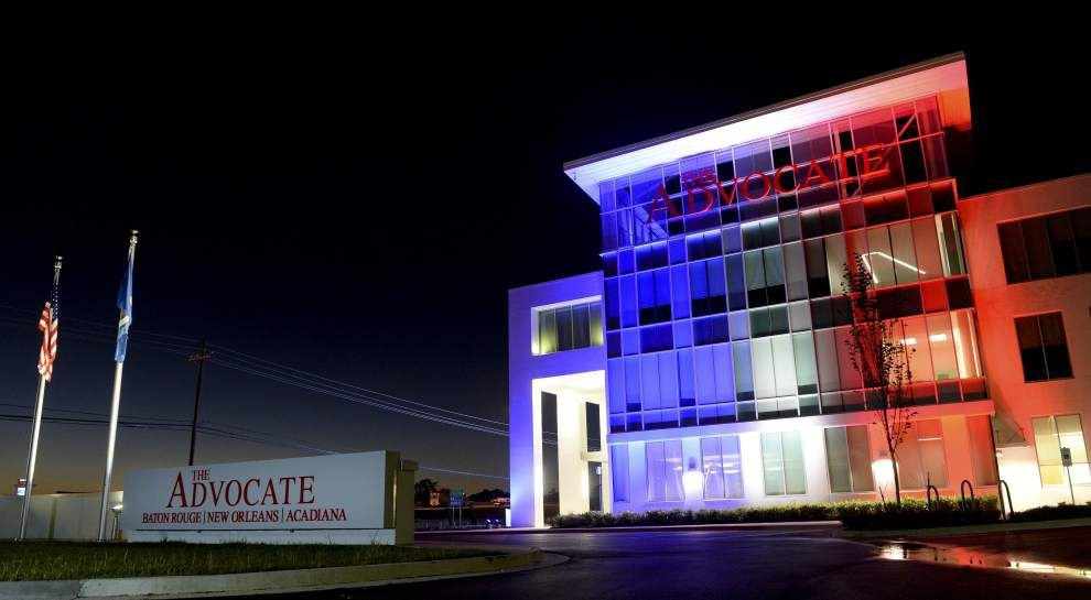 The Advocates New Headquarters Lights Up Blue White Red In