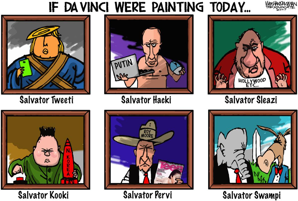 Walt Handelsman: New da Vinci Paintings