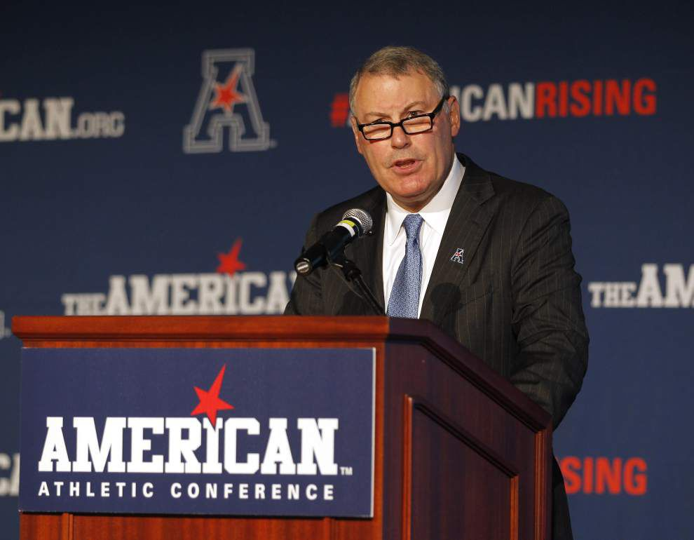 American Athletic Conference commissioner Mike Aresco says his league can challenge the Power Five _lowres