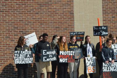 STA Students Participate in National School Walkout on Marc.JPG