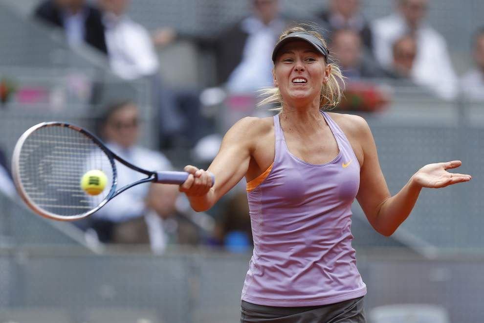 Maria Sharapova rallies to avoid early Madrid exit _lowres