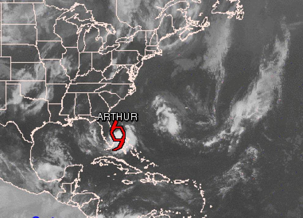 Tropical Storm Arthur forms off Florida coast _lowres