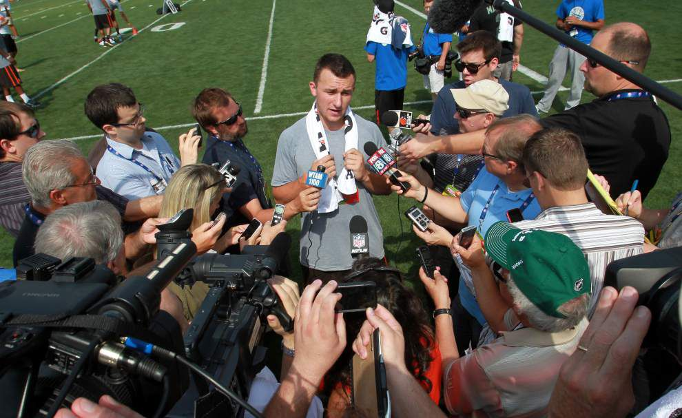 Johnny Manziel says partying not out of control _lowres