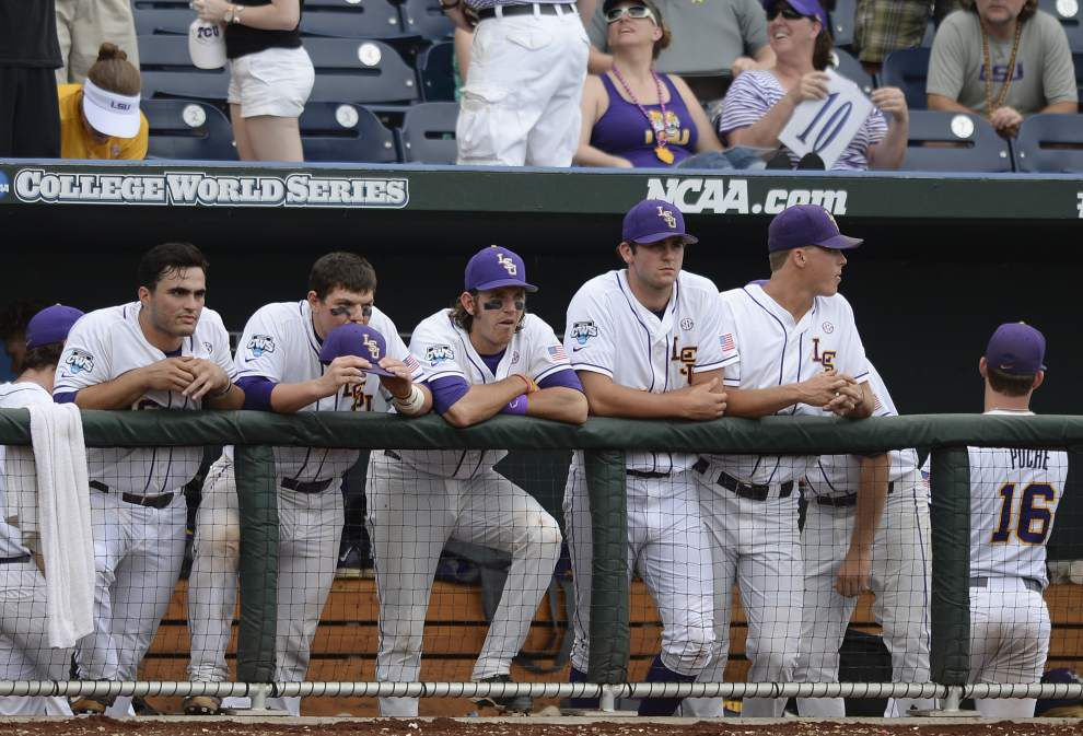 Photos: Emotions run high as LSU falls to TCU in CWS opener Sunday _lowres