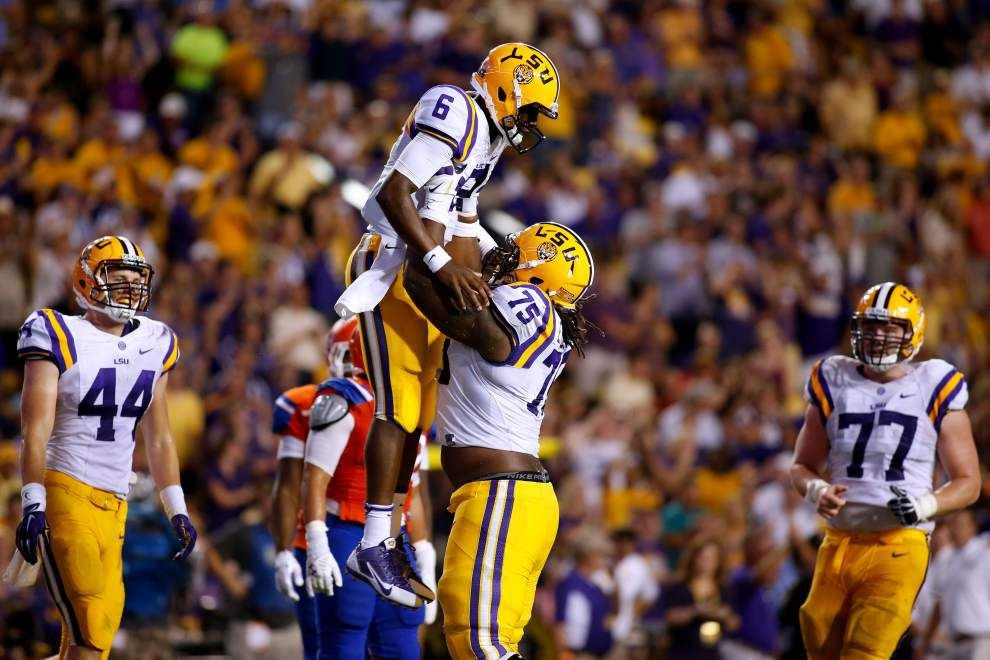 LSU offensive tackle Evan Washington says Tigers were focused against Sam Houston State _lowres