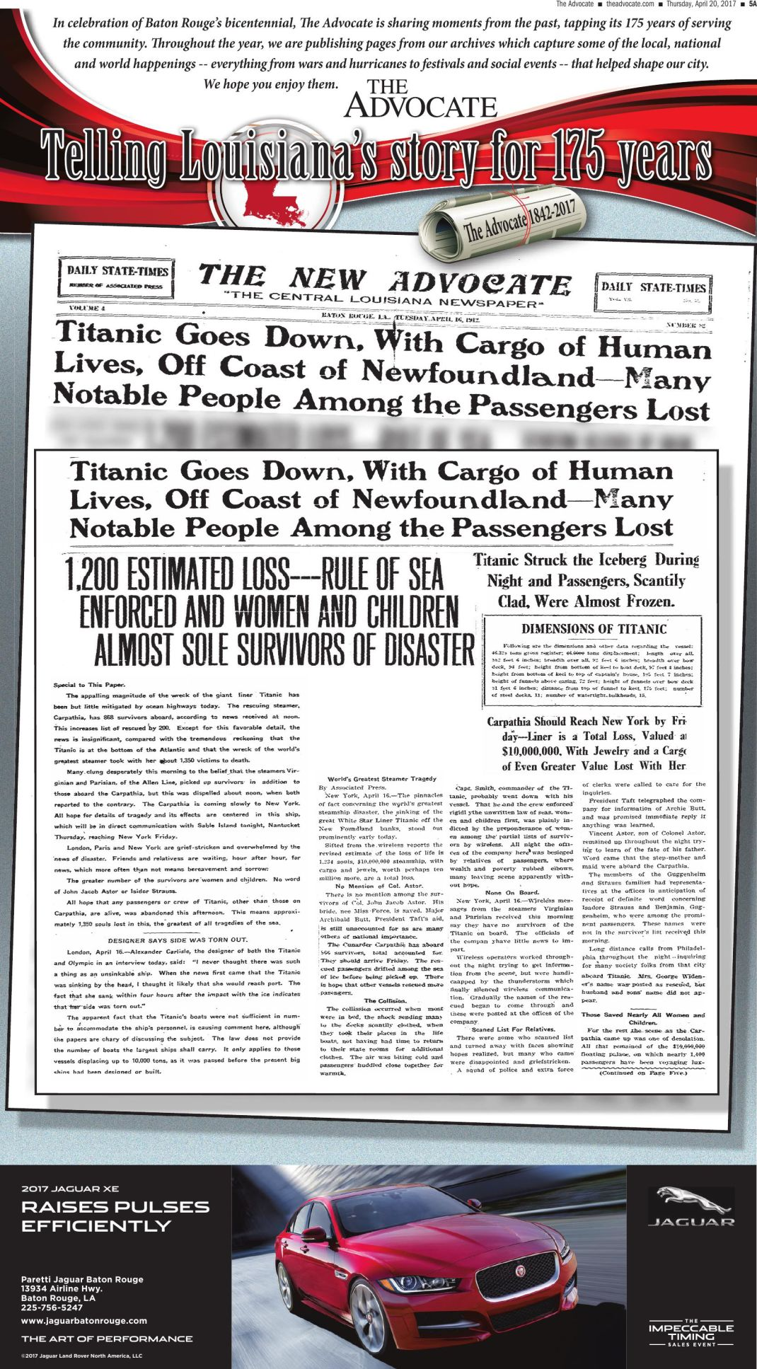 Titanic goes down