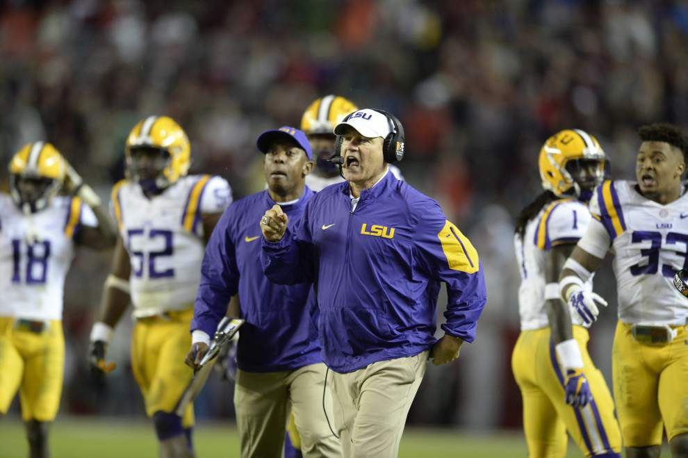 Can 1-loss LSU wiggle into College Football Playoff without winning SEC? _lowres