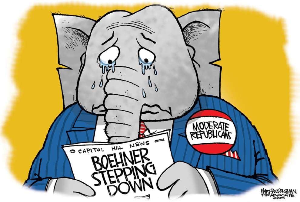 Walt Handelsman: Speaker Boehner leaving _lowres