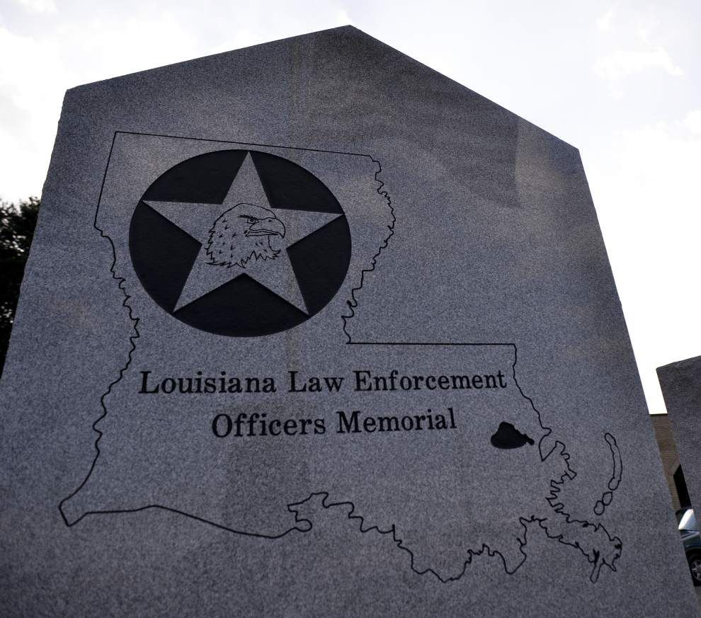 New Orleans Mayor Mitch Landrieu urges public donations for repairs after vandals damage memorial for fallen police officers _lowres