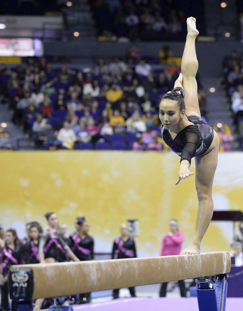 Deep, well-tested LSU gymnastics team continues national title run _lowres