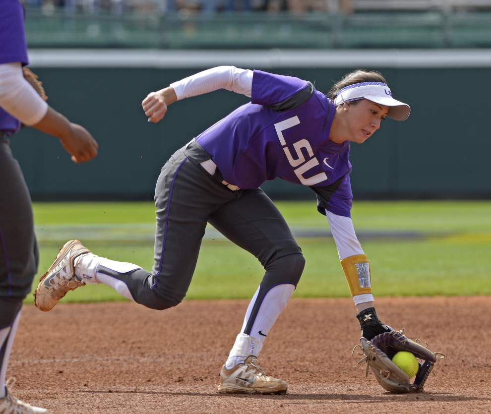 LSU softball team's defense was solid vs. No. 1 Florida, but the Tigers know their bats must come around _lowres