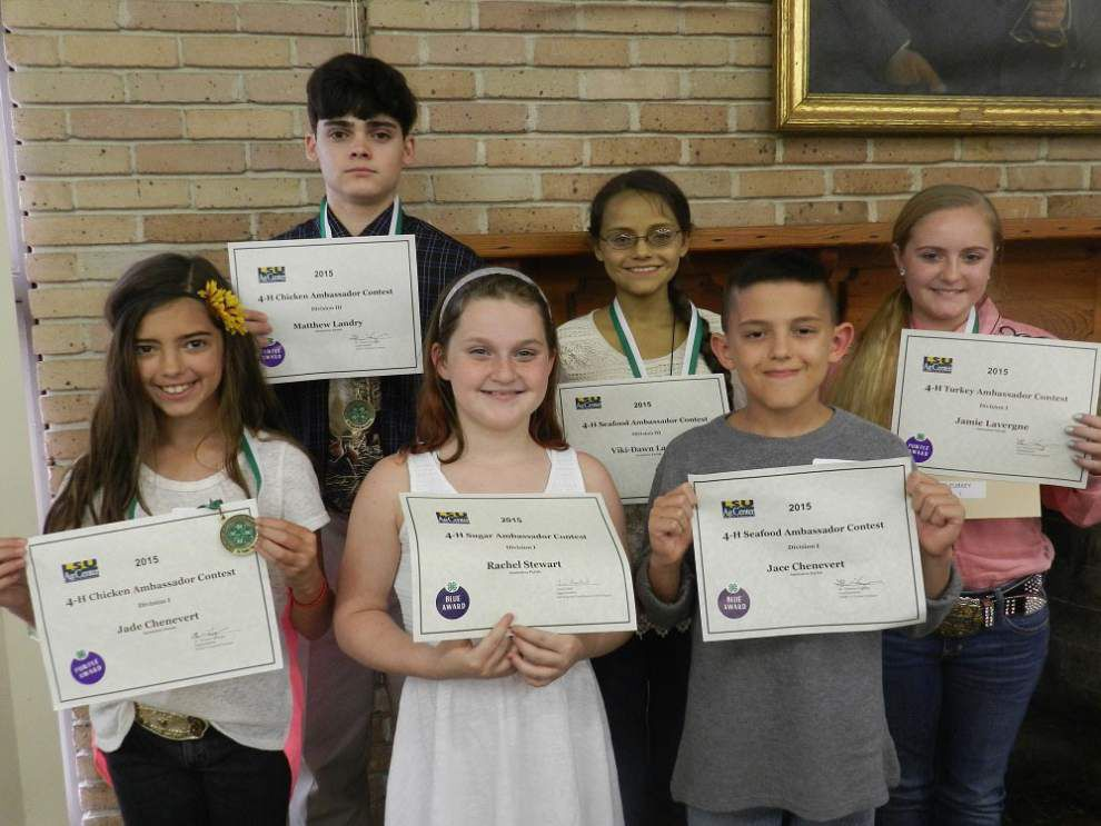 4-H'ers awarded for La. commodity presentations _lowres