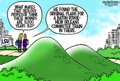 Walt Handelsman: LSU Mounds