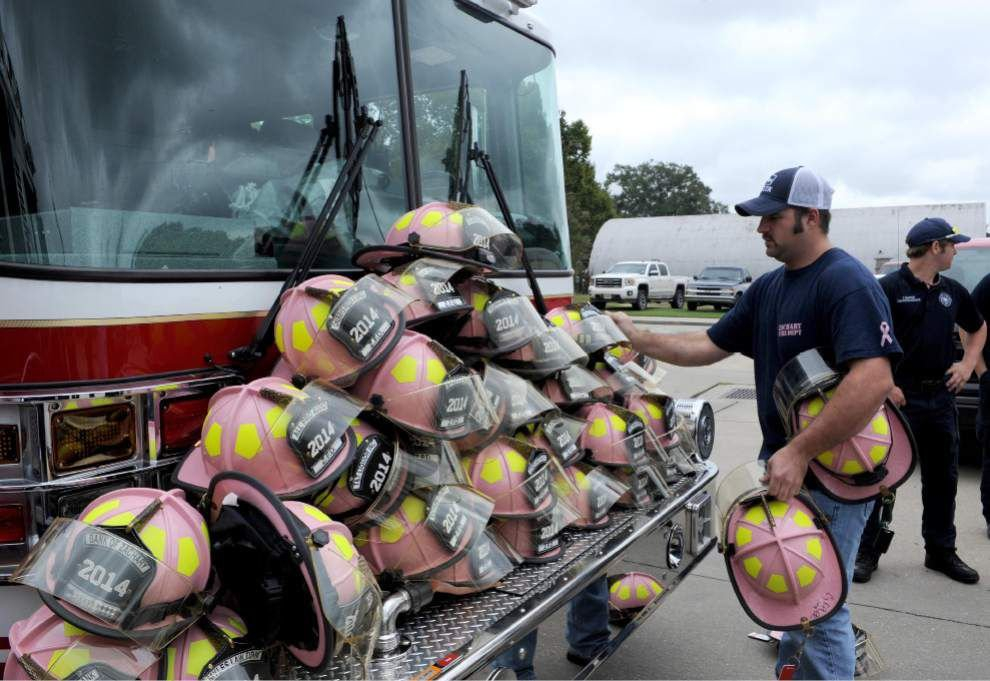 Zachary firefighters are thinking pink _lowres