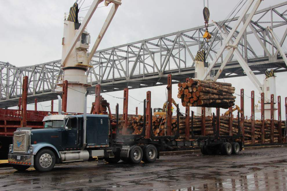 the letter v pine logs again sailing out of br area port business 25189