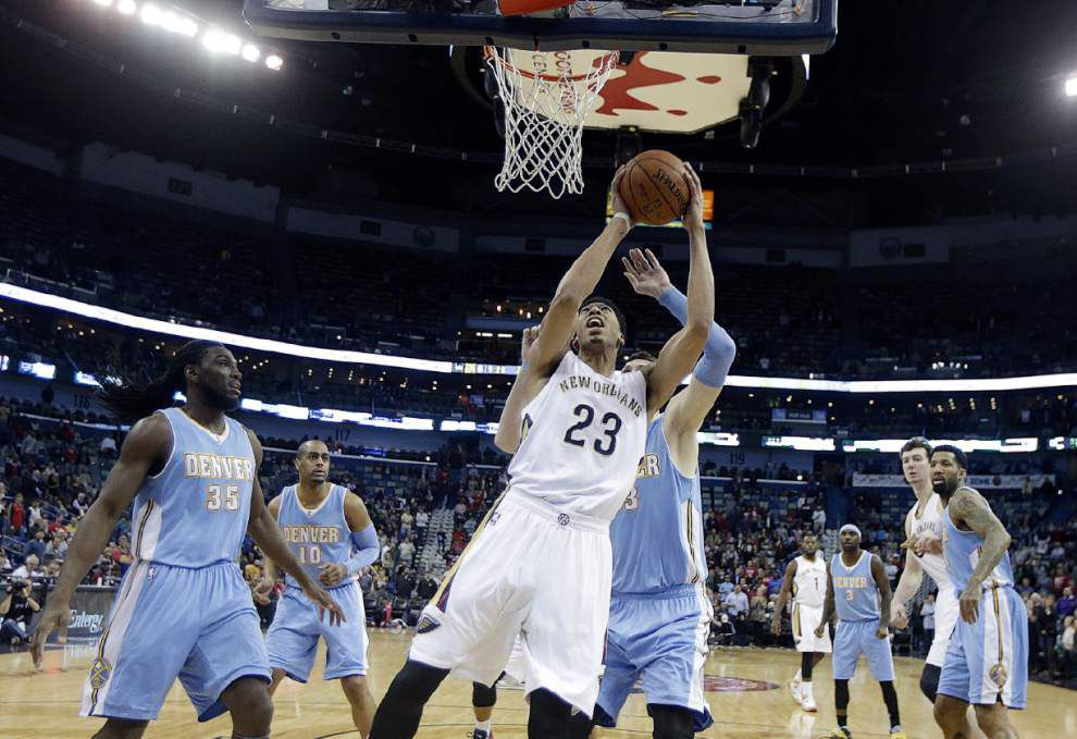 The Pelicans in the NBA playoffs? NBA analyst Chris Sheridan says if that happens then forward Anthony Davis should finish the season as the MVP _lowres