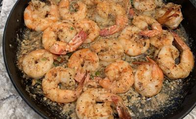 Chargrilled shrimp