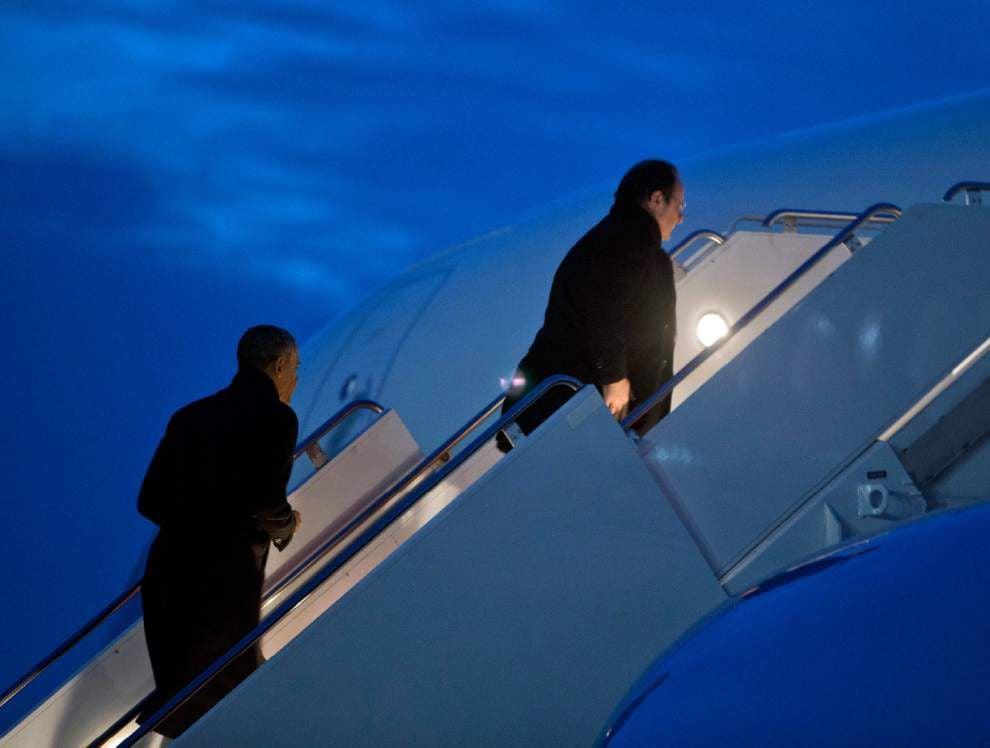 Obama, Hollande open lavish state visit _lowres