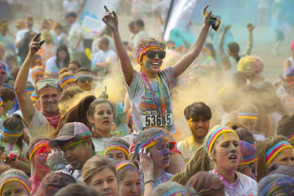 This will brighten up your day; Photos: Our best shots from Baton Rouge's Color Run _lowres