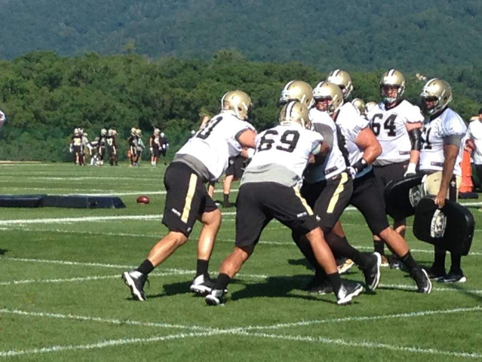 The Saints' Saturday practice through the eyes of Twitter _lowres