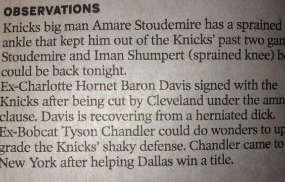 Baron Davis has a herniated WHAT?_lowres