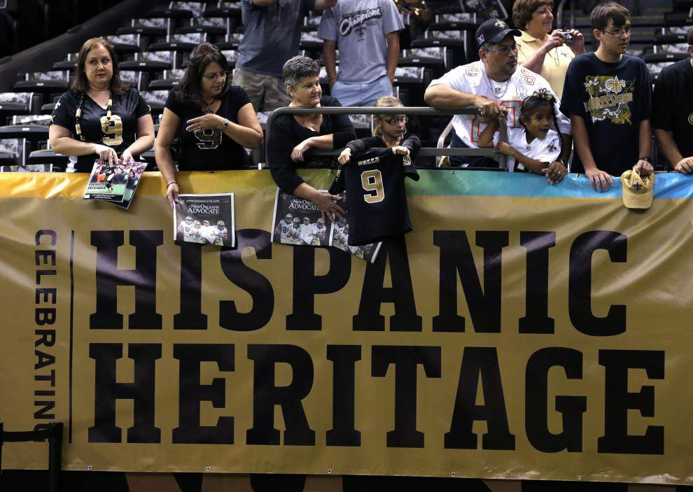 Ted Lewis: Taking stock of potential growing fan segment for Saints during NFL's Hispanic Heritage Month _lowres