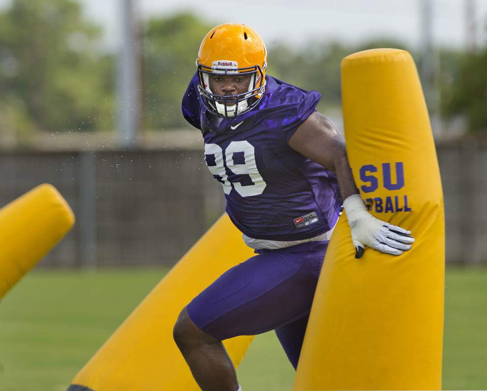 What's a TFL? And why is LSU defensive tackle Greg Gilmore determined to get 10 of them this season? _lowres