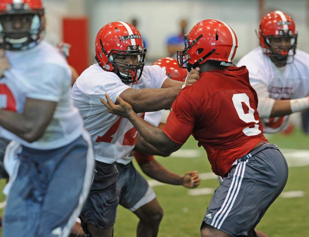 Cajuns' Terry Johnson getting more comfortable at center _lowres