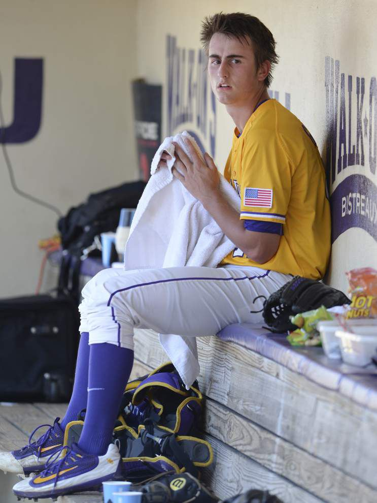 'Can't be more excited': In a 'surreal' scenario, hometown pitcher Caleb Gilbert starts for LSU in its SEC tournament semifinal _lowres