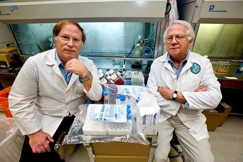 Tulane University School of Medicine virologists Robert Garry and Dr. James Robinson