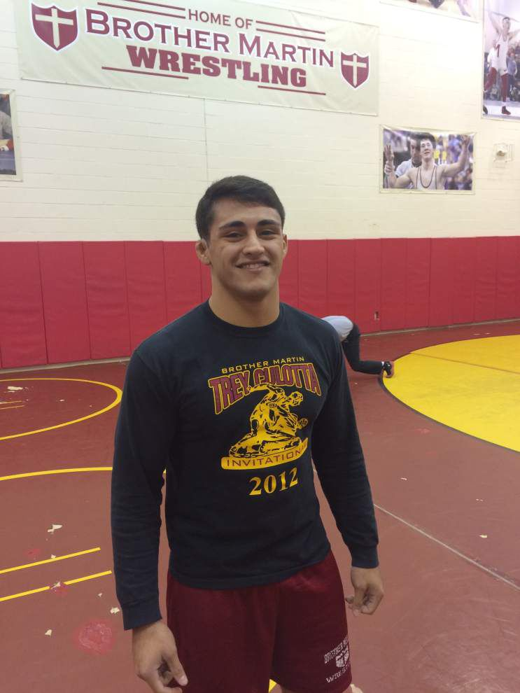 Brother Martin's Yehia Riles glad he chose wrestling _lowres