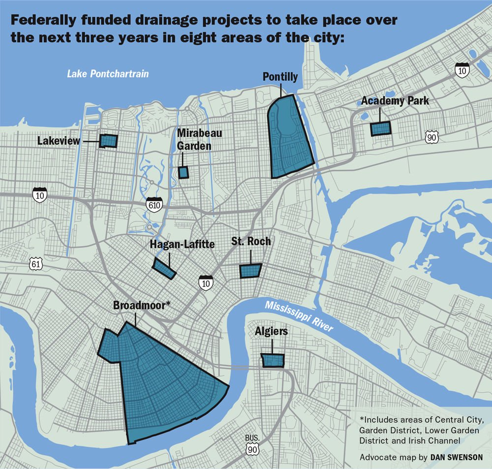 New Orleans to move forward with 115 million in ecologically driven