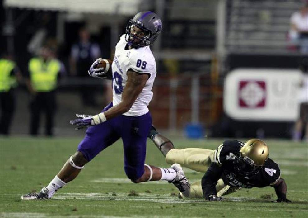 Central Arkansas' Dixon calls his Saints visit a success _lowres