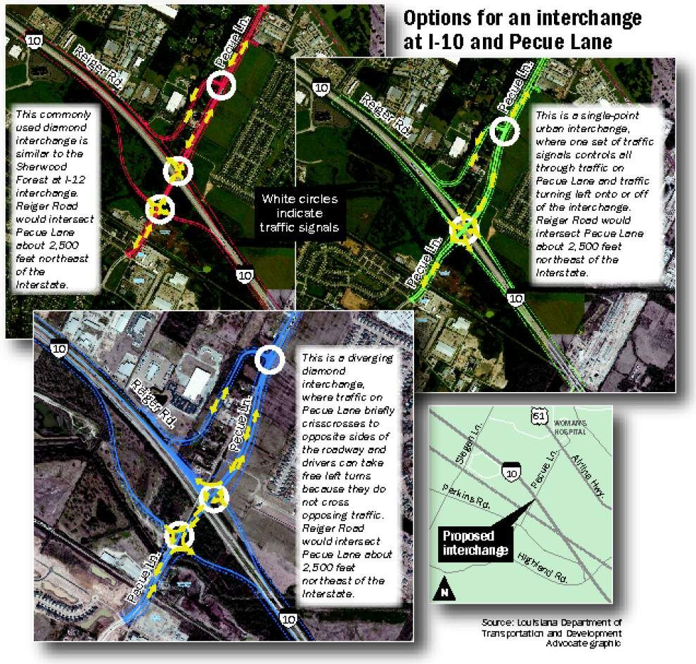 Pecue Lane, I-10 interchange plans concern some nearby residents _lowres