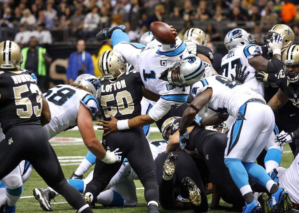 Saints must find a way to slow down Cam Newton, who's having an MVP-level season _lowres